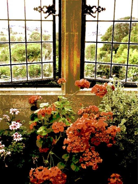 bronzed window