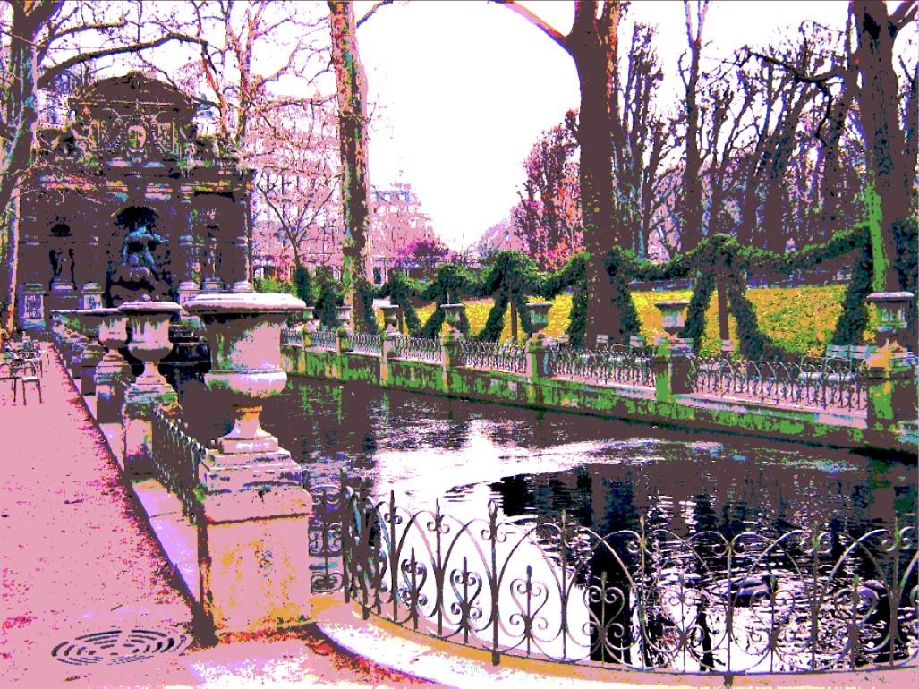 pink Parisian gardens